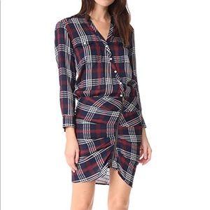 Veronica Beard Emory Ruched Cargo Shirt Dress 0